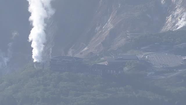 AERIAL, Owakudani, Volcanic Valley, Kanagawa, Japan