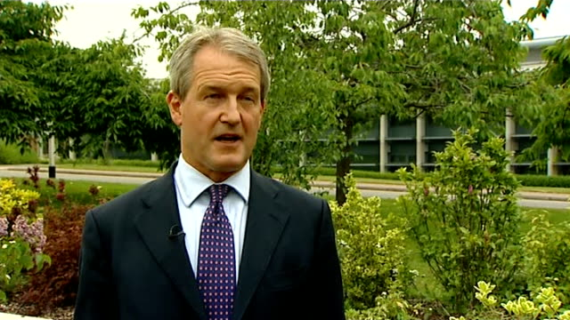 hertfordshire harpenden ext owen paterson mp interview sot - owen paterson stock videos and b-roll footage