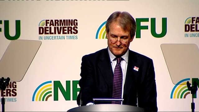 owen paterson speech at nfu conference england west midlands birmingham int owen paterson mp speech sot i am delighted to be able to speak to you at... - plant part stock videos and b-roll footage