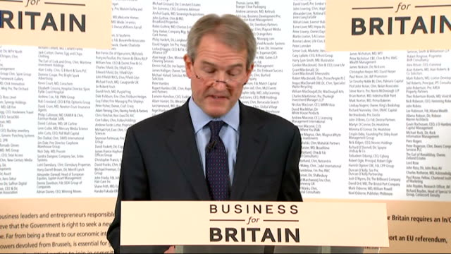 owen paterson speech on britain and the european union paterson speech sot - owen paterson stock videos and b-roll footage
