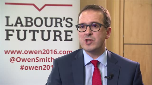 leeds headingley int owen smith mp interview sot his reaction to jeremy corbyn being allowed on the ballot for labour leadership - owen smith politician stock videos & royalty-free footage