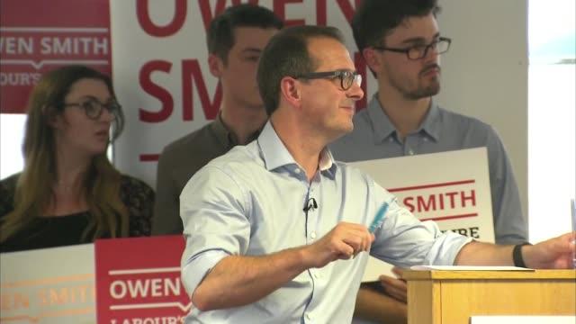 owen smith speech owen smith mp speech sot / owen smith question and answer session sot - owen smith politician stock videos & royalty-free footage