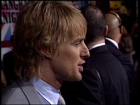 owen wilson at the 'shanghai knights' premiere at the el capitan theatre in hollywood, california on february 3, 2003. - el capitan theatre stock videos & royalty-free footage