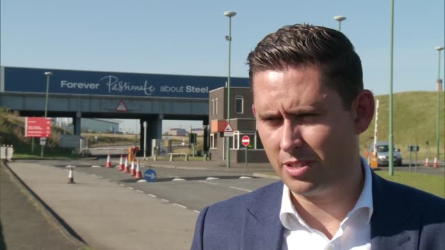 owner of redcar steel plant goes into liquidation reaction turley interview sot / tom blenkinsop mp interview sot - liquidation stock videos and b-roll footage