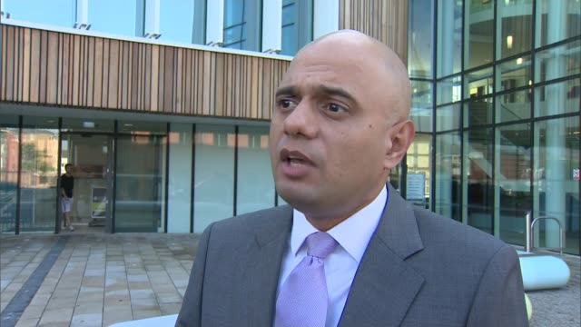 vídeos de stock e filmes b-roll de owner of redcar steel plant goes into liquidation; sajid javid mp interview sot - talks of support for the affected workers/ - cargo governamental