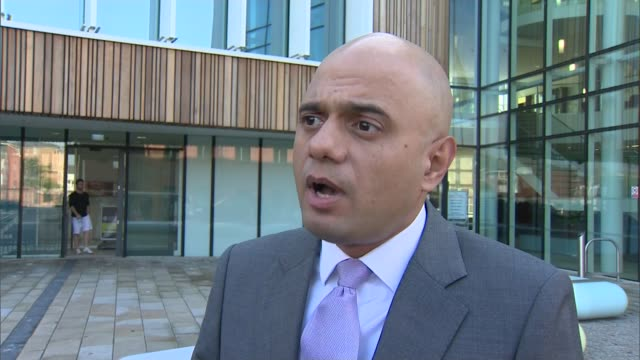 owner of redcar steel plant goes into liquidation sajid javid mp interview sot talks of support for the affected workers - liquidation stock videos and b-roll footage