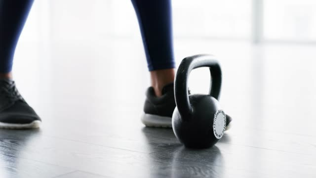 owning this workout - kettlebell stock videos & royalty-free footage