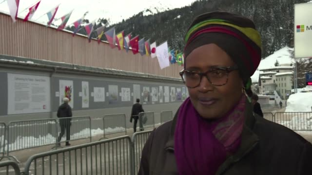 oxfam's executive director winnie byanyiama says she is in davos to tell political leaders shape up live up to your responsibilities and deliver for... - executive director stock videos & royalty-free footage