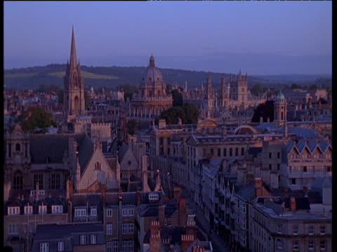 oxford at sunset with university visible in the background - oxford england stock videos and b-roll footage
