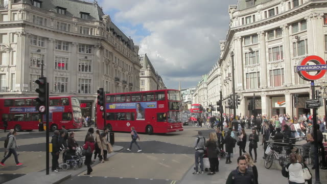 oxford circus london - oxford circus stock videos and b-roll footage