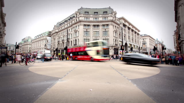 oxford circus, london - oxford circus stock videos and b-roll footage
