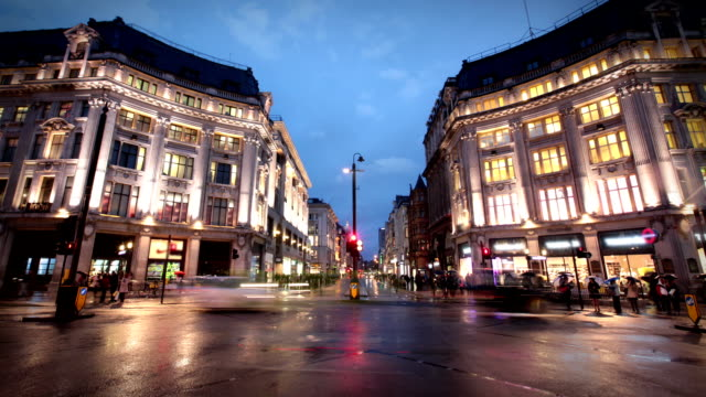 oxford circus, london - oxford street london stock videos and b-roll footage