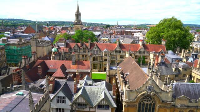 oxford city in vereinigtes königreich - oxford universität stock-videos und b-roll-filmmaterial