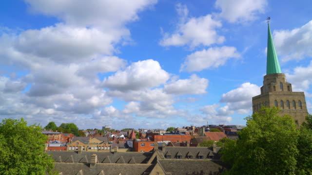 oxford city in vereinigtes königreich - oxford england stock-videos und b-roll-filmmaterial