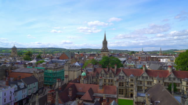 oxford city skyline in united kingdom - oxford university stock videos & royalty-free footage