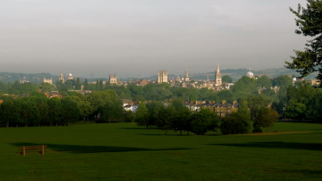 oxford cityscape,spires,ws, - cambridge england stock videos and b-roll footage
