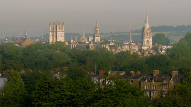 oxford cityscape,spires,zo, - oxford england stock videos & royalty-free footage