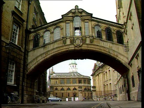 tgv university buildings bridge of sighs student cycling towards - stereotypically upper class stock videos & royalty-free footage