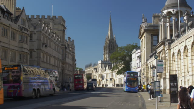 oxford high street. - oxford england stock videos & royalty-free footage