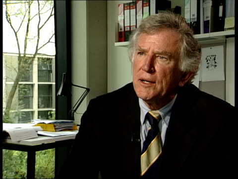 stockvideo's en b-roll-footage met oxford gary hart former us senator interview sot don't think current polls accurate/ think kerry will increase intensity of his message and his... - gary w. hart