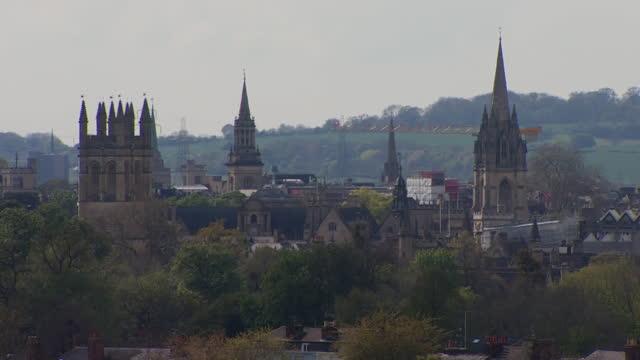 oxford skyline - oxford england stock videos & royalty-free footage