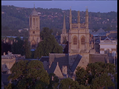 stockvideo's en b-roll-footage met oxford spires at sunset - torenspits