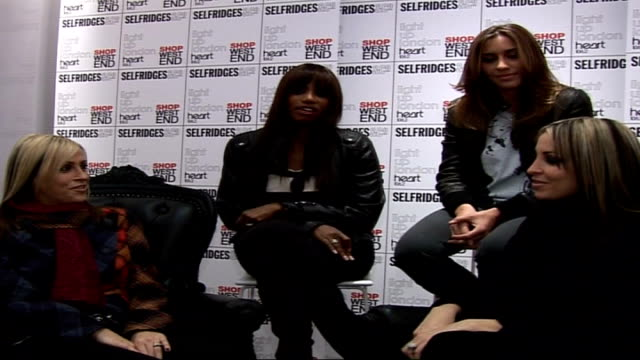 oxford street christmas lights switched on intvw peter andre jordan g4 and all saints all saints interview sot on being back together and performing... - appleton video stock e b–roll