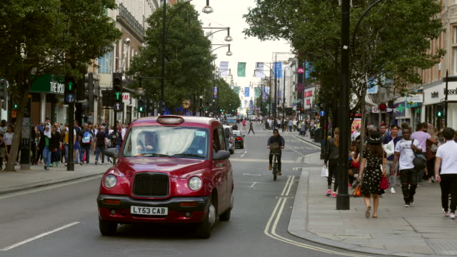 oxford street in london - oxford street london stock videos and b-roll footage