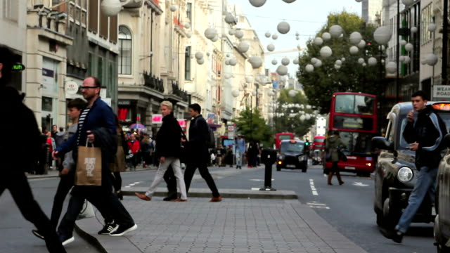 oxford street1 - oxford street london stock videos and b-roll footage