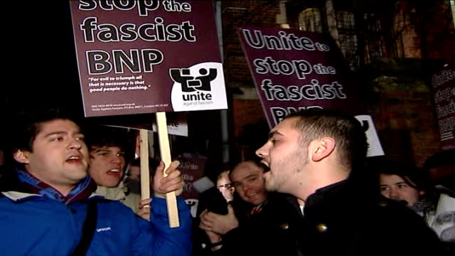 oxford union causes controversy over invitations to nick griffin and david irving england oxfordshire oxford photography** protesters holding... - oxfordshire stock videos & royalty-free footage