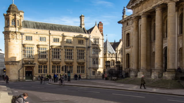 oxford university buildings - timelapse - oxford england stock videos and b-roll footage