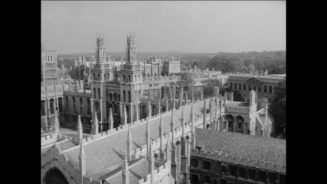 montage oxford university is quiet during the vacation / oxford, england - oxford england video stock e b–roll