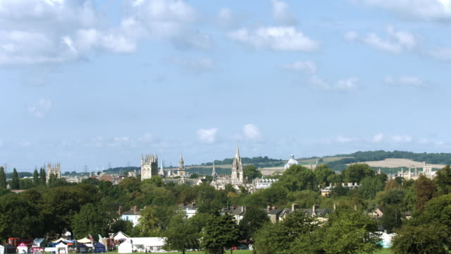 oxford university long distance time lapse - oxford england stock videos and b-roll footage