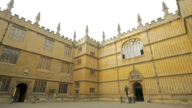 oxford,bodleian library,pan - bodleian library stock videos and b-roll footage