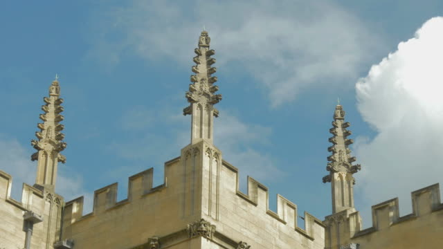 oxford,bodleian library,spires,zo, - cambridge england stock videos and b-roll footage