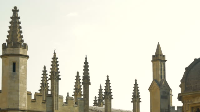 oxford,cityscape,ha,cu,spires,pan - oxford oxfordshire stock videos & royalty-free footage