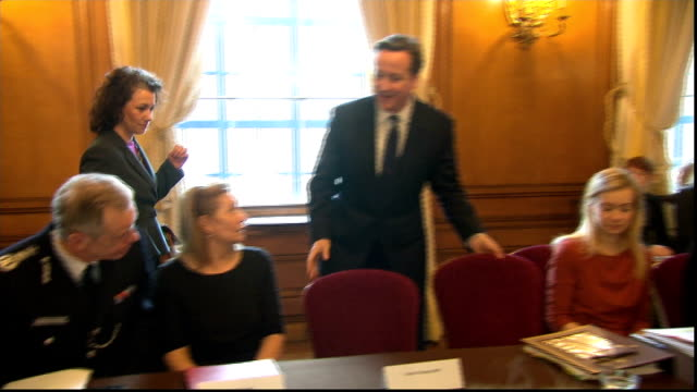 oxfordshire grooming report / government announce new measures int theresa may sitting at table prime minister david cameron mp along to meeting with... - dose stock videos & royalty-free footage