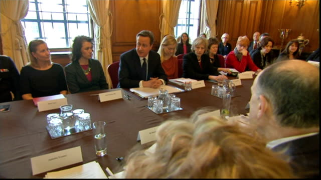 stockvideo's en b-roll-footage met 10 downing street int david cameron mp addressing meeting about how to tackle sexgrooming gangs sot young girls and they are young girls being abused... - oxfordshire