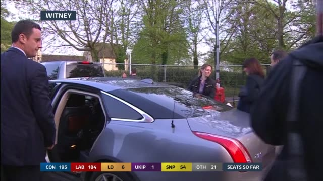 SPECIAL 0500 0600 Oxfordshire Witney EXT David Cameron and wife Samantha Cameron along to car
