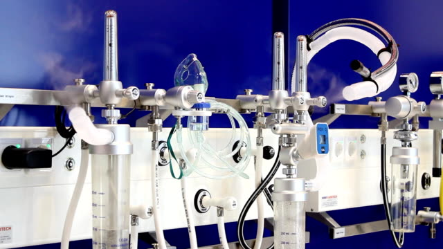 oxygen therapy equipment (hd) - oxygen stock videos and b-roll footage