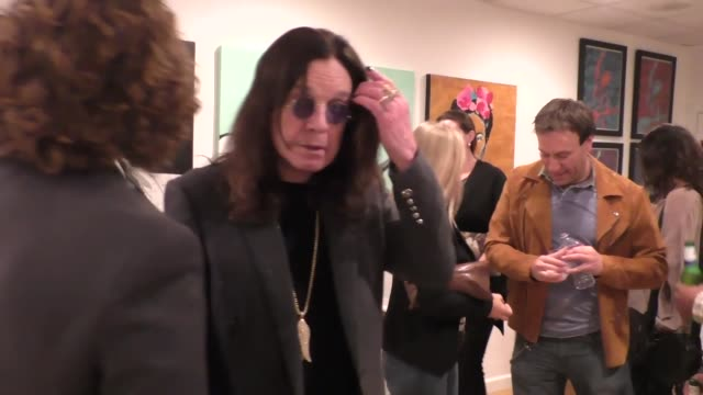 ozzy osbourne and jack osbourne at the gallery opening of 'social distortion a capsule collection of fine art by billy morrison' at art on scene in... - ozzy osbourne stock videos & royalty-free footage