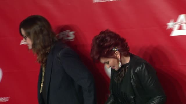 ozzy osbourne and sharon osbourne at 2014 musicares person of the year honoring carole king at los angeles convention center on in los angeles... - sharon osbourne stock videos & royalty-free footage