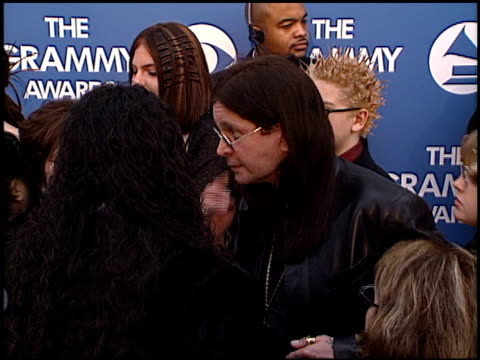 ozzy osbourne at the 2000 grammy awards arrivals at staples center in los angeles california on february 23 2000 - ozzy osbourne stock videos & royalty-free footage