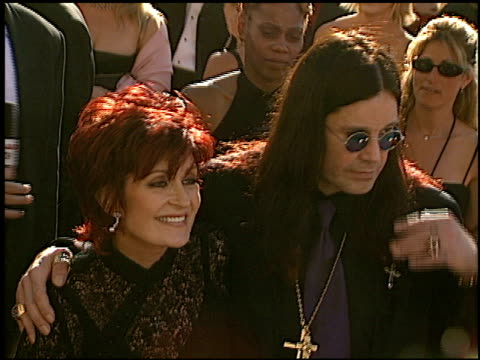 ozzy osbourne at the 2002 emmy awards at the shrine auditorium in los angeles california on september 22 2002 - ozzy osbourne stock videos & royalty-free footage