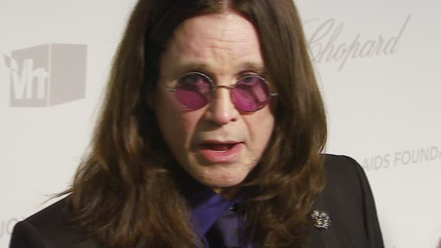 ozzy osbourne at the elton john 2007 oscar party at pacific design center in west hollywood california on february 25 2007 - ozzy osbourne stock videos & royalty-free footage