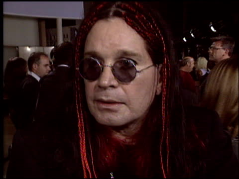 ozzy osbourne at the 'school of rock' premiere at the cinerama dome at arclight cinemas in hollywood california on september 24 2003 - ozzy osbourne stock videos & royalty-free footage
