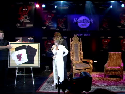 ozzy osbourne at the unveiling of signature series tshirt with ozzy and sharon osbourne at hard rock cafe in new york new york on july 28 2006 - hard rock cafe stock videos & royalty-free footage