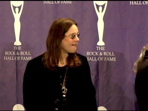 ozzy osbourne bill ward tony iommi and geezer butler of black sabbath inductees at the 21st annual rock and roll hall of fame induction ceremony... - hall of fame stock videos and b-roll footage