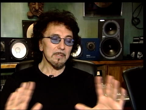 ozzy osbourne hurt in bike accident itn tony iommi interviewed sot he's been in la so long he's come home and let loose - ozzy osbourne stock videos & royalty-free footage