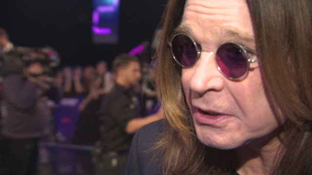interview ozzy osbourne on being nominated at the awards at mtv ema awards 2014 at the sse hydro on november 09 2014 in glasgow scotland - ozzy osbourne stock videos & royalty-free footage